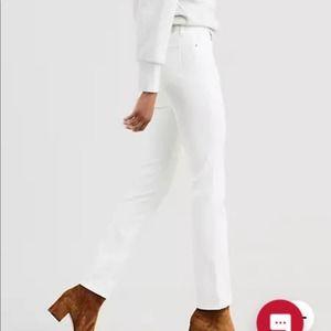 Levi Strauss white 712 slim jeans 28